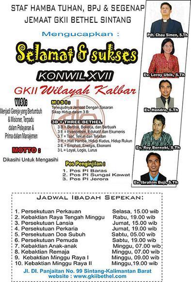 Konferensi Wilayah GKII Kalimantan Barat