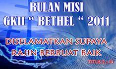 Bulan MISI GKII Bethel Sintang