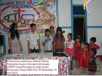 Anak-Anak Sekolah Minggu Jemaat GKII Pos PI Elshaddai 2 Desa Gernis