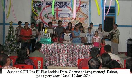 Jemaat GKII Elsaddai 2 Desa Gernis Jaya