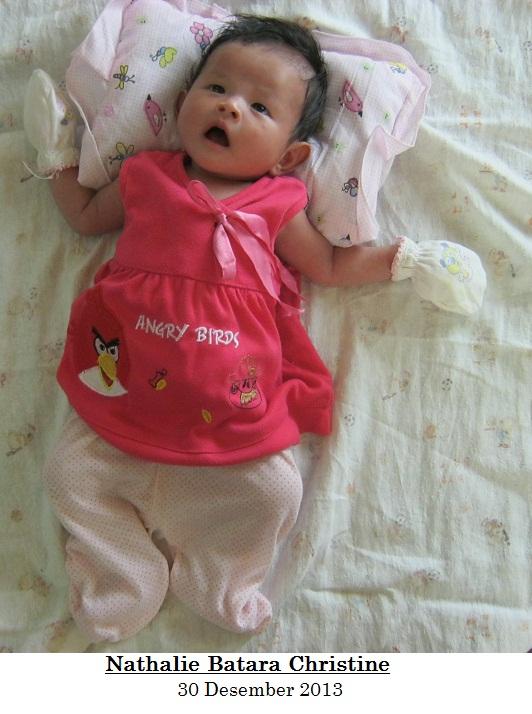 Nathalie saat berumur 1 bulan