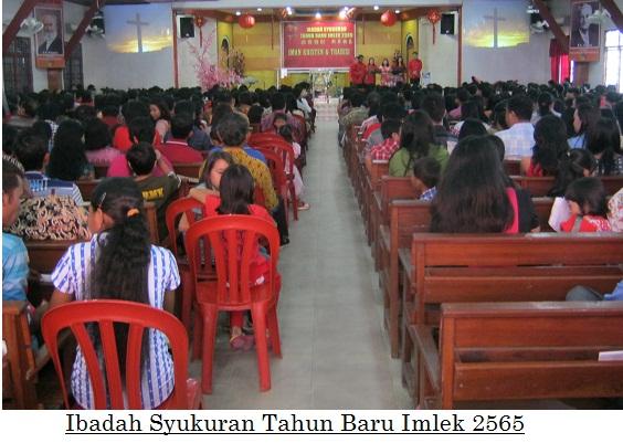 Suasana Imlek 2565 GKII Bethel Sintang