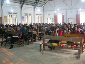 Suasana Kebaktian Syukur HUT GKII Genezaret Kelam Permai