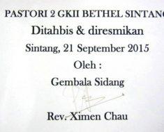 Rumah kediaman Hamba Tuhan GKII Bethel