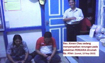 Rev Ximen Chau dalam salah satu renungannya