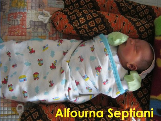 Alfourna septiani, putri ke empat kel. Sukardi / Atet