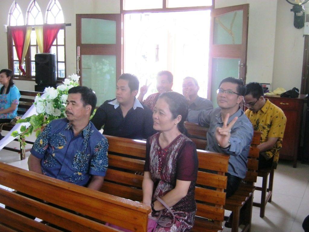 Jemaat GKII bethel yang hadir