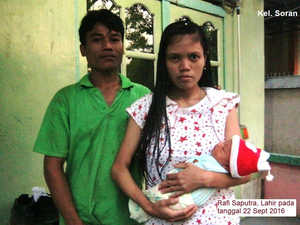 Kel. soran bersama anaknya yakni Rafi saputra